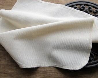 Reusable Un paper Eco Friendly Towels -- Organic Birdseye Unbleached Cotton -- Set of 60 Family Pack, Choose Your Edge Color Thread
