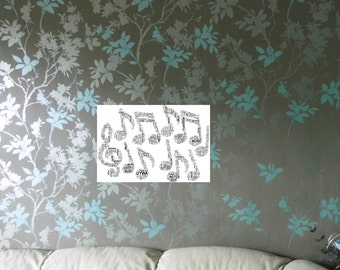 Musical Note/Notes Personalised Word Art Print,  FREE UK P&P. 2 sizes. Word Cloud Picture. Word Collage, Digital art