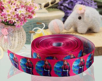 Ribbon GROSGRAIN sold by the yard frozen ANNA ELSA 22mm