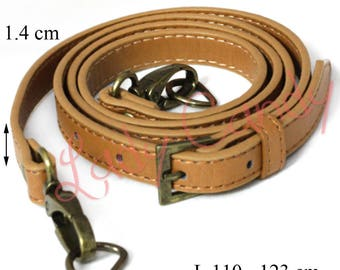 Faux brown leather adjustable length #330067 bag handle