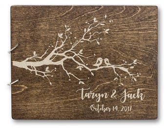 Love Birds Guestbook, Birds Guestbook, Wedding Guest Book, Engraved Wedding Guest Book, Custom Wedding Guest Book, Wedding Guest Book Ideas