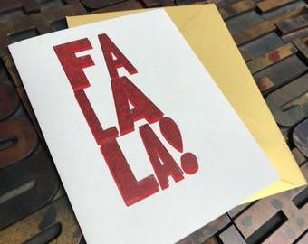 Fa La La Card (red on red) - Individual
