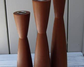 Trio of Mid-century Design Candle Holders