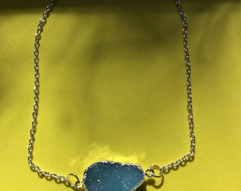 Agate Druzy Geode Necklace