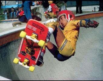 Steve Caballero Del Mar Kidney Pool Skateboarding Photo - 18 x 24 Inch - 80s Skate Photo