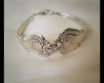Sterling Silver Antique Clasp Spoon Bracelet