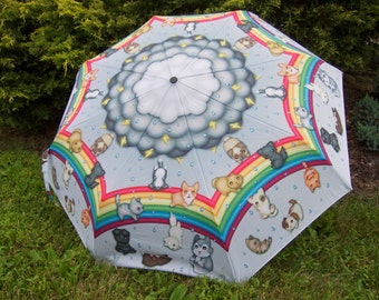 Raining Cats and Dogs Stick Umbrella