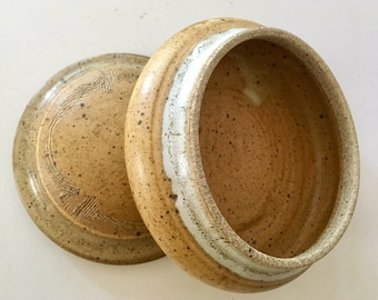 Wagner Village Pottery Stoneware Hand Thrown Small bowl with Lid
