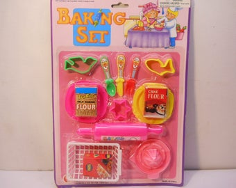 Baking Set Pretend Play Assorted Baking Cooking Supplies Dollhouse Toys n127