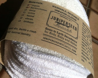 Alternative de ratine de bambou à Poufs du visage jetables - polaire 12 tours, Plus de BONUS laver sac