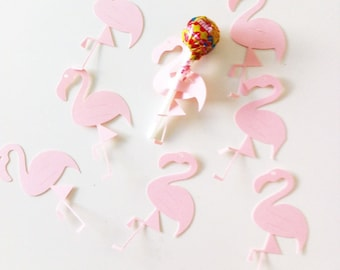 10 flamingos cardstock 210 gr for lollipops - party table decoration