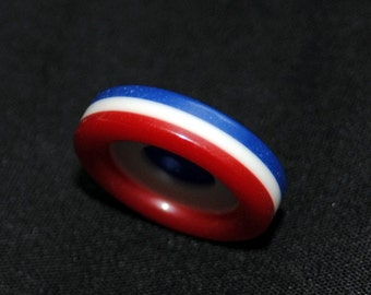 Vintage Button Red, White and Blue Fourth of July