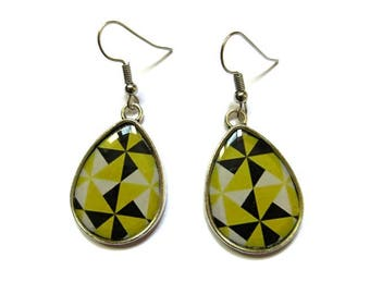 YELLOW TEARDROP EARRINGS - drop earrings - bright yellow earrings - Boho Earring - Ethnic Earrings - yellow jewelry