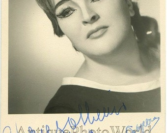 Ina Delcampo opera singer vintage hand signed photo