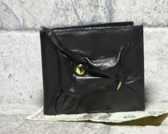 Leather Wallet Dragon Fantasy Fathers Day Gift Black 521