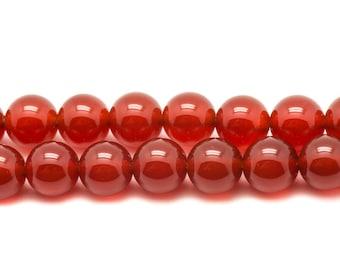 20pc - stone beads - carnelian balls 4mm - 4558550038265