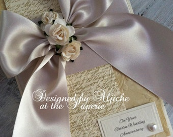 Golden Wedding Card, Anniversary, Wedding, Engagement, 50th Anniversary, Birthday, Wife, Personalized
