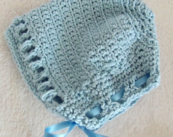 Baby hat, 100% cotton, light blue