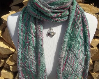 Diamond Stole * knitted scarf, knitted stole, knitted shawl, handmade scarf