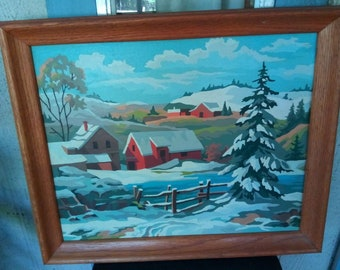 Vintage Paint by Number Painting