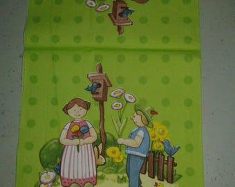 """Nice pattern """"Little sweetheart"""" paper TOWEL"""