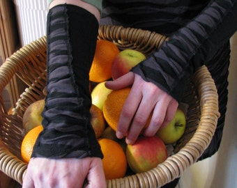 Black and Gray Arm Warmers