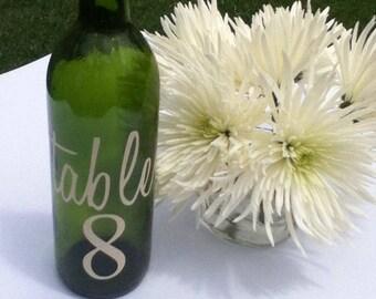 Table Vinyl Numbers Wedding Table numbers 1-17