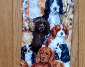 SPANIELS ALL OVER  glasses cases