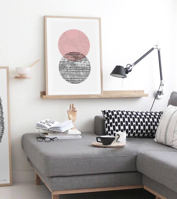 ART DUO // Mid centuty poster, 18x24, abstract art, minimalist art print, geometric print, scandinavian style, Nordic design