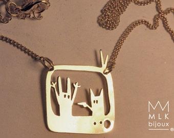 "necklace ""tele rabbit"""