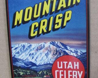 1948 Very Scarce Utah Celery American Fork UT Crate Label  Dated