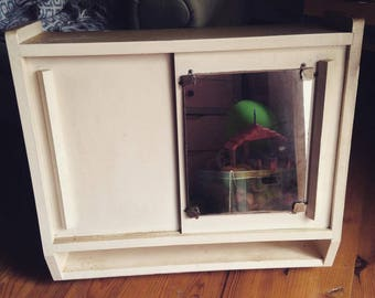 Cabinet drugstore ice mirror 50s vintage