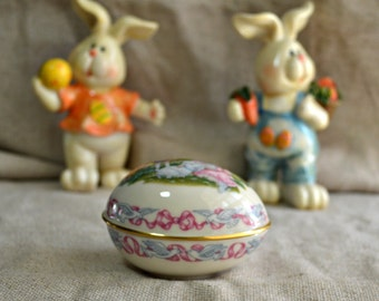 Sale- Lenox Easter Egg // Lenox collectible egg // Easter 1992 // Easter Egg candy dish