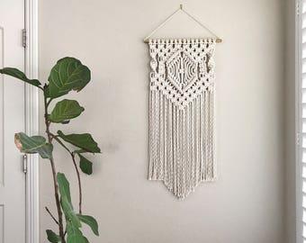 Macrame Patterns/Macrame Pattern/ Macrame Wall Hanging Pattern/Wall Hanging/Pattern/DIY/Name: Center Diamond