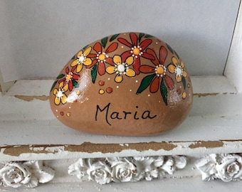 Thanksgiving Painted Rock, Thanksgiving Place Setting, Personalized Place Setting, Thanksgiving Table, Hand Painted Rock