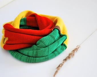 Chunky alpaca snood,cashmere infinity scarf,Green color shawl, Alpaca loop scarf, Knitted merino scarf, alpaca wool snood, Extra large scarf