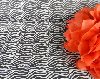 """10 Black and White Zebra Print Tissue Paper Sheets - 20"""" by 30"""" - Pattern Tissue paper - Gift Wrap Idea - Unique Holiday Gift Wrap"""