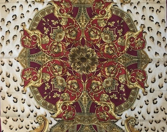 SILK SCARF ITALIAN, Vintage Italian Silk Scarf, Rectangle Italian Silk Scarf