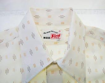 """Men's 1950s Embossed Dress Shirt Unworn Size 16"""" Neck"""