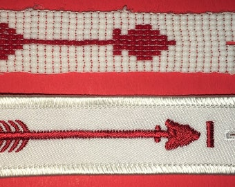 Boy Scout of America Order of the Arrow Sash Set of Two Used (E39)