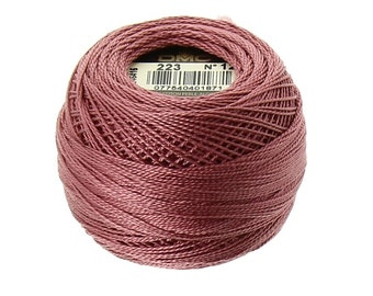 DMC 223 Perle Cotton Thread | Size 12 | Light Shell Pink
