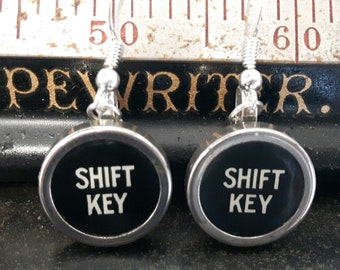 1940's Vintage Typewriter Key Earrings