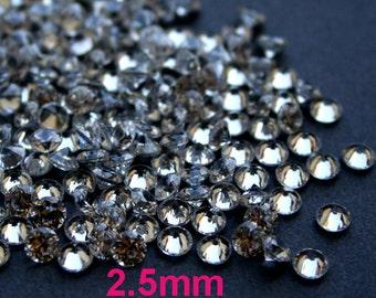 AAAAA 2.5mm Round Cubic Zirconia Loose Stone CZ Diamond Brilliant Cut - Diamond Clear - 36pcs