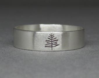 Silver tree ring - nature inspired ring - PNW - Pacific Northwest - Oregon - pine tree ring - serenity tree ring silver - north woods tree
