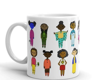 Diverse Kids Mug // Coffee Mug // Kids Mugs // Childrens Mug // Mugs for Children // Personalized Mug // African American // Black Culture