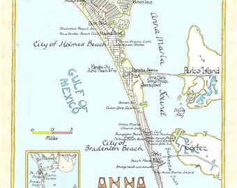 Anna Maria Island, Florida in two sizes.