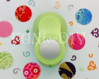 24mm large size lever type paper punch -- scallop circle