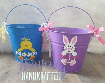 Personalized Easter Bucket - Custom Easter Basket - Monogrammed Easter Bucket - Easter Pail - 5-quart Bucket