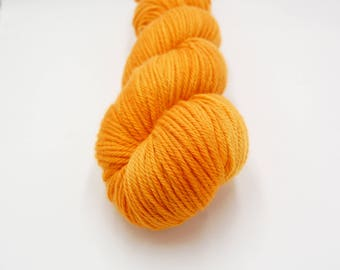 Merino Worsted Hand Dyed Yarn - California Poppy
