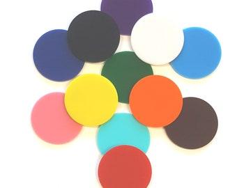 Acrylic color circles  1/8